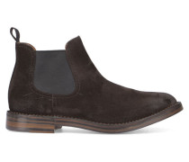 Braune Chelsea-Boots Idea aus Veloursleder