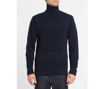 Marineblauer Rollkragenpullover aus Wolle Skagen Bubble Knit
