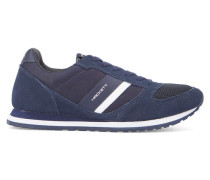 Marineblaue Sneaker mit Logo