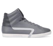Hohe graue Leder-Sneaker Klubb