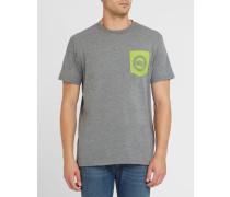 Graues T-Shirt mit Brusttasche Pr
