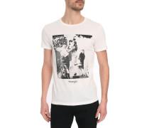 Weißes T-Shirt Heritage mit Aufdruck.