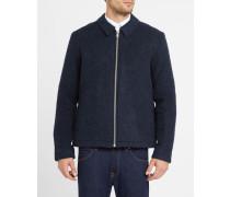 Blaue Jacke Elliot aus Woll-Fleece-Gemisch