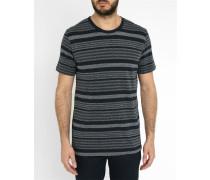 Blaues T-Shirt mit Rundhalsausschnitt Johnston