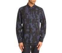 Blaues Button-Down-Hemd