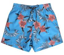 Blaue Badehose Palm Flowers