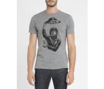 Graues T-Shirt Timber mit Aufdruck