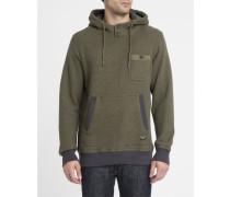 Sweatshirt mit Kapuze Sherpa in Grün