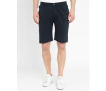 Marineblaue Chino-Shorts aus Baumwolle