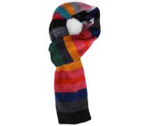 Patchwork-Schal aus Wolle-Mohair Multi Stripe