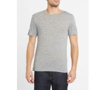 Grau meliertes T-Shirt mit Print MC
