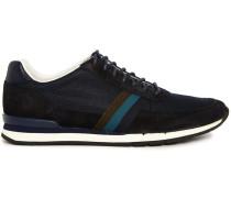 Marineblaue Sneaker Swanson Veloursleder und Mesh