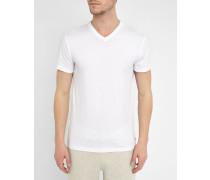 Unterhemd weiß mit V-Ausschnitt
