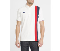 Vintage-Poloshirt Stripes in Ecru