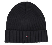 Mütze aus Baumwoll-Kaschmir in Schwarz