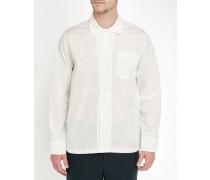 Weißes Popeline-Box-Hemd