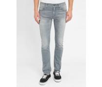 Graue Jeans Slim Stretch Washed Rebel