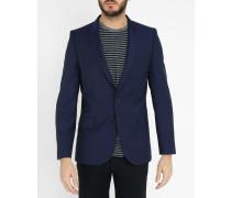 Blaues Slim Fit-Sakko aus Wolle