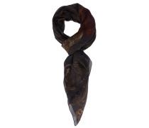 Origineller schwarz-brauner Schal aus Baumwolle und Seide