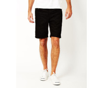 Avi Loom Denim Shorts Black
