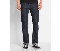 Atmungsaktive Jeans Slim Straight Fit Stretch in Washed-Blau