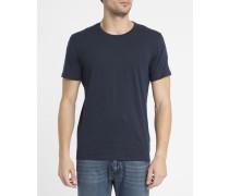 Schwarzes T-Shirt mit Rundhalsausschnitt und AJ-Logo auf dem Rücken