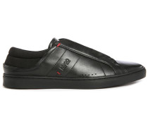 Sneakers Post Low aus schwarzem Leder