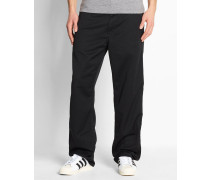 Hose Straight Fit Simple Denison in Washed-Schwarz