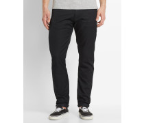 Jeans Tapered Fit Stretch Lycra Vicious Lamar in Washed-Schwarz