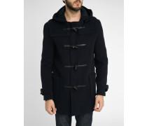 Duffle-Coat dunkelblau und Schnur schwarz