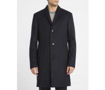 Blauer Mantel aus Kaschmirwolle