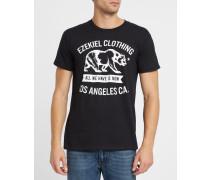 T-Shirt Walkabout mit Rundhalsausschnitt und Druck in Schwarz