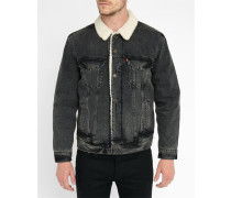 Grey Rock Denim Sherpa Trucker Jacket