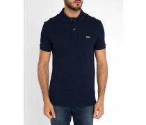 Marineblaues kurzärmeliges Poloshirt mit -Logo
