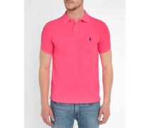 Poloshirt Slim Fit Neon Pink