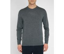 Grauer Pullover aus Merinowolle