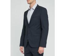 Marineblaues Slim-Anzugsakko aus Wolle