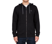 Single Stone Zip Hoody schwarz (BLACK)