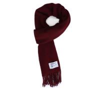 Bordeauxroter Schal aus Lambswool