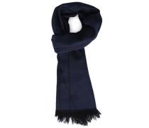 Zweiseitiger Schal in Bleu und Marineblau mit Armani-Logo