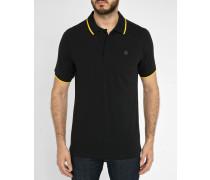 Schwarzes Poloshirt Pierre mit gelbem Streifen