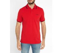 Poloshirt Romford aus rotem Piqué