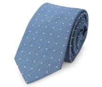 Blaue Krawatte mit Punktmuster