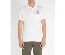 Poloshirt Trikolore Pocket Weiß