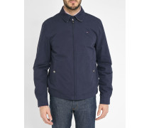 Blaue Washed-Jacke Ivy aus Baumwolle Made In Italy