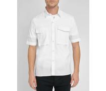 Uniformhemd aus weißem Popeline