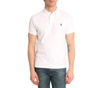 Poloshirt Custom Fit Weiß