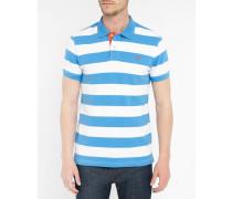 Blaues gestreiftes Poloshirt