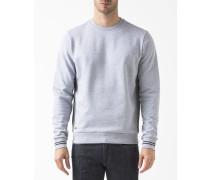 Sweatshirt Runder Kragen Grau