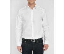 Weißes Popeline-Hemd